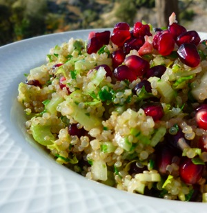 Quinoa Salad with Pomegranate Traditional Foods