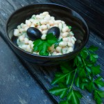 Creamy White Beans with Parsley and Black Olives at Traditional-Foods.com